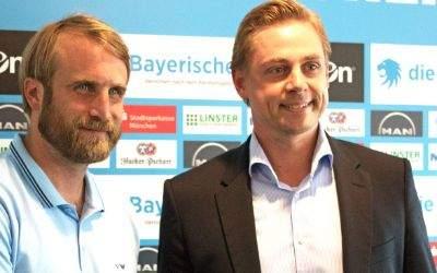 Daniel Bierofka und Markus Fauser vom TSV 1860.