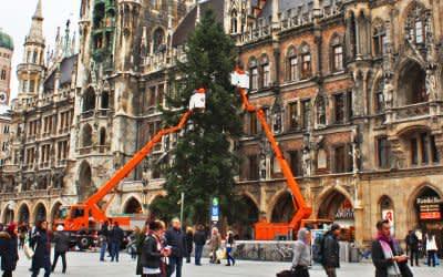 Der Christbaum 2017 am Marienplatz