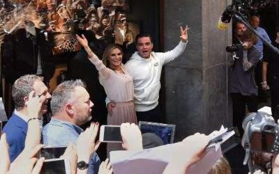 Robbie Williams präsentiert seine Modekollektion in München