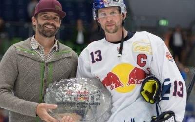 David Stiehler vom Tourismusamt Garmisch-Partenkirchen und Michael Wolf vom  EHC Red Bull München