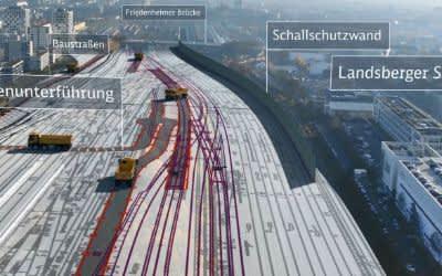 Visualisierung der Baumaßnahmen für die 2. Stammstrecke in Laim