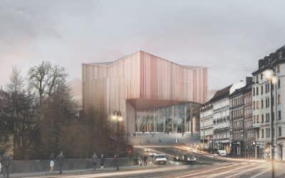 """Einer der Preisträger im Architekturwettbewerb """"Der Neue Gasteig"""": Entwurf Auer Weber Assoziierte GmbH"""