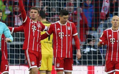 Thomas Müller feiert seinen Treffer im Spiel gegen Bremen.