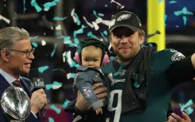 Nick Foles nach dem Super-Bowl-Sieg