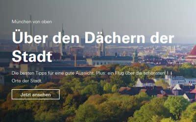 Screenshot des Tourismusportals einfach-muenchen.de