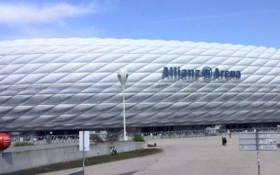 Die Allianz Arena ohne Beleuchtung