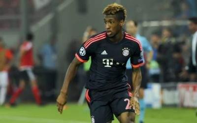 Kingsley Coman vom FC Bayern München im Champions-League-Spiel