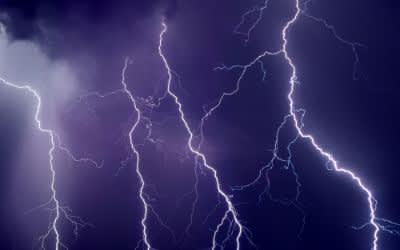 Blitze im Gewitter