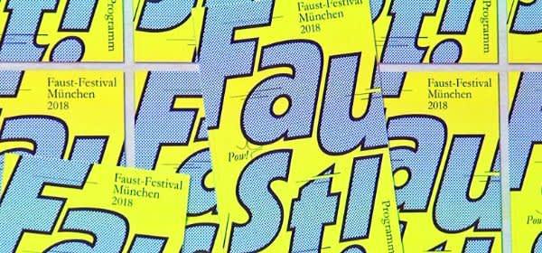 Plakat zum Faust-Festival München 2018