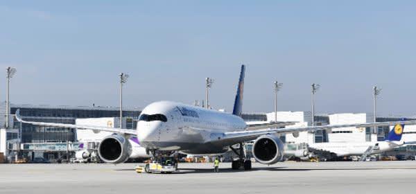 Flugzeug am Flughafen München
