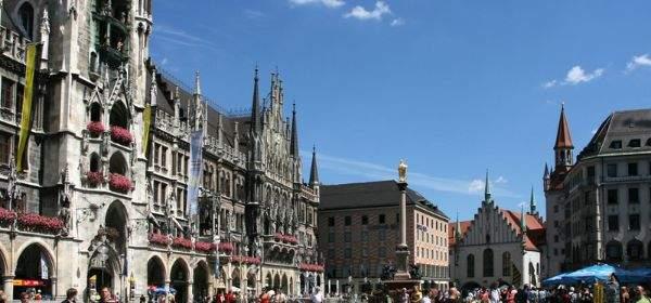 Der Marienplatz in der Innenstadt