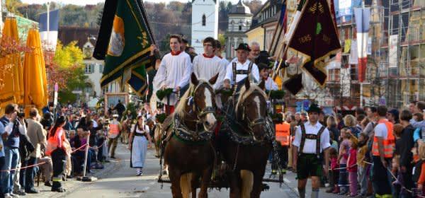 Leonhardifahrt in Fürstenfeldbruck