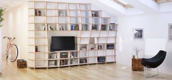 Wohnzimmer-Einrichtung auf der Messe Heim+Handwerk