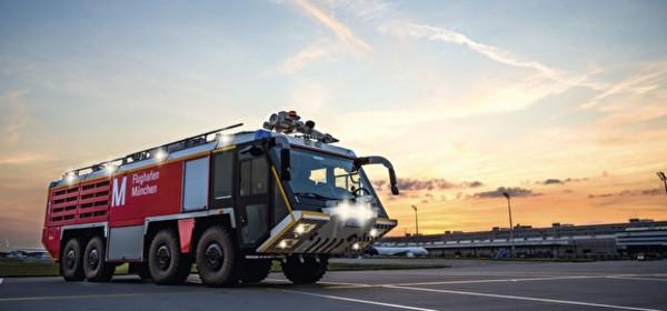 Feuerwehrtour am Flughafen München